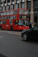Londyn Londyn, czerwony dwupoziomowy autobus