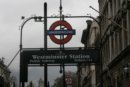 Londyn Londyn, stacja metra Westminster
