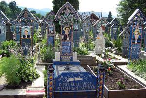 Rumunia - Sapanta - Weso�y cmentarz w Rumunii