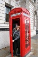 Londyn Londyn, czerwona budka telefoniczna