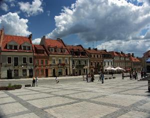 Sandomierz - Kamienice na Starym Rynku w Sandomierzu
