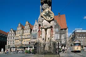 Bremen - Posąg Rycerza Rolanda