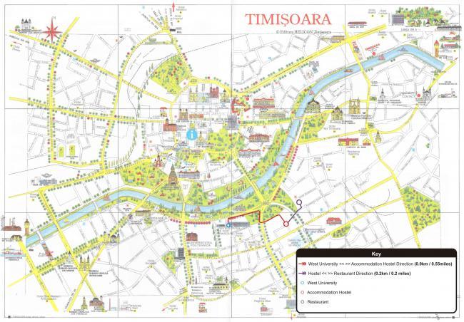 Timisoara mapa zabytków