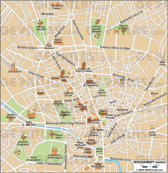 Bukareszt mapa zabytków