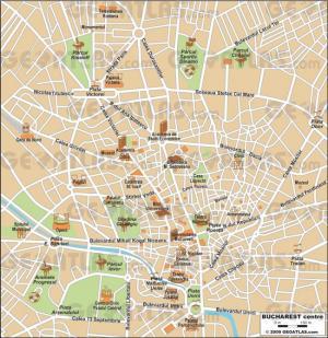 Bukareszt - Bukareszt mapa zabytków