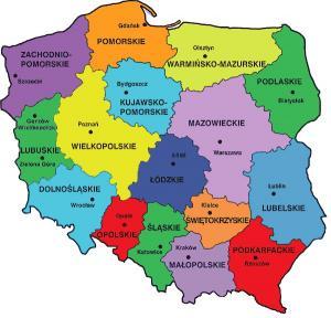 Polska - Podzia� administracyjny Polski