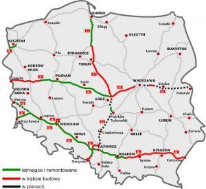 Polska - Autostrady w Polsce