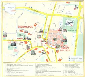 Lublin - Lublin mapa zabytków
