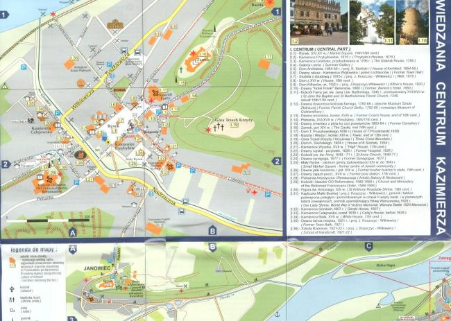 Mapa zabytków Kazimierza
