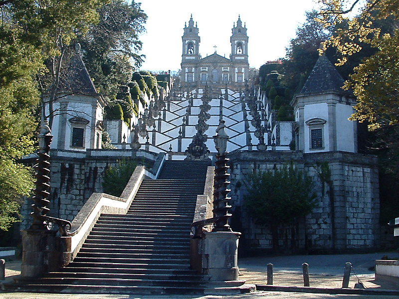 Braga - Schody z Sanktuarium Bom Jesus