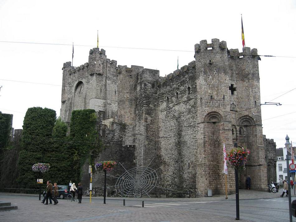 Gandawa - zamek hrabiów Flandrii