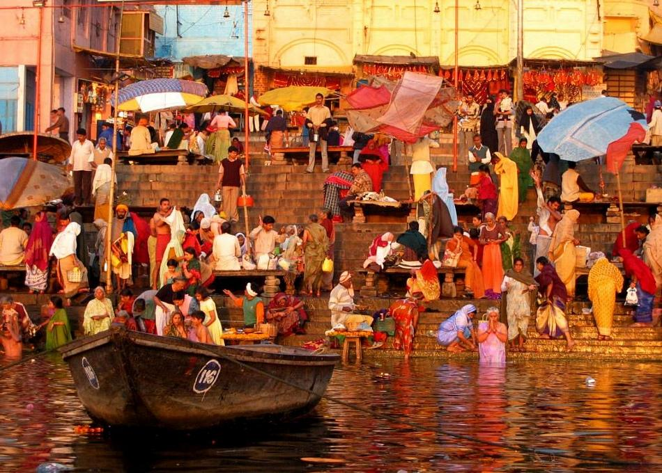 Varanasi - Schody do Gangesu
