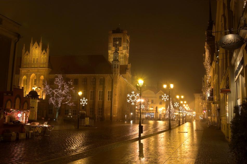 Toruń - Ratusz nocą