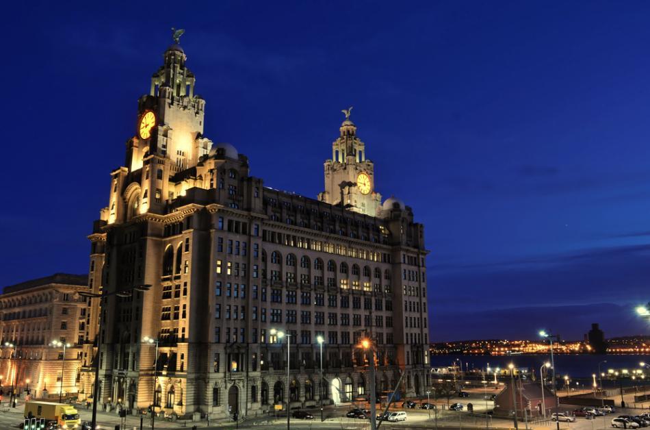 Royal Liver Building w Liverpoolu