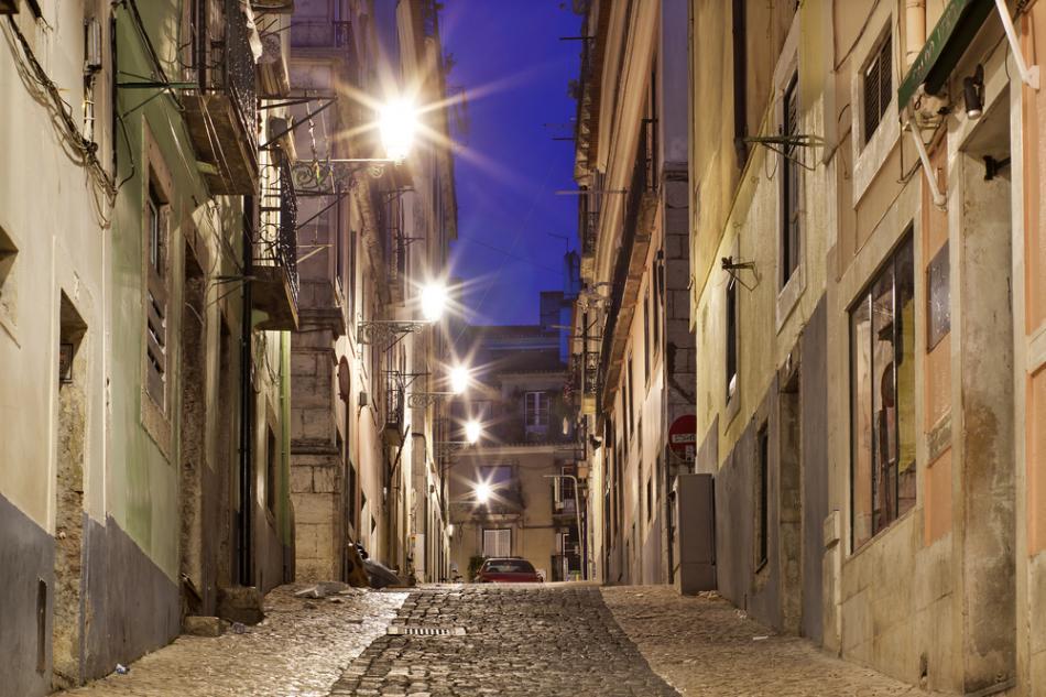 Górne Miasto w Lizbonie