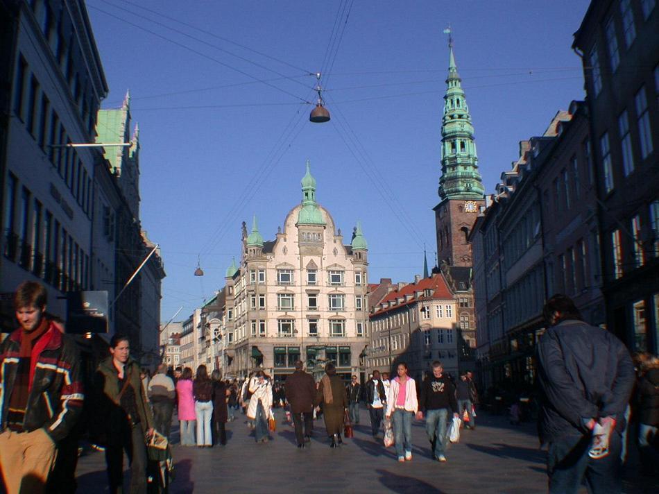 Kopenhaga - STROGET - główna handlowa ulica